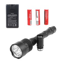 3T6 Flashlight Kit Black Aluminum Flashlight Intelligent Control Circuit
