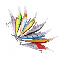 8pcs Mixed Color Luyaminuo Bait Hook Sinking Freshwater Fishing Tackle Lure Hook