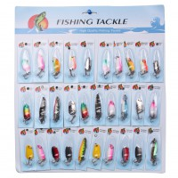 30pcs /Lot Fishing Lures Hook Tackle Fishing Lures Crankbaits Hooks Minnow