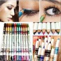 12 Colors Eye Make Up Eyeliner Pencil Waterproof Eyebrow Cosmetics Eyes Makeup