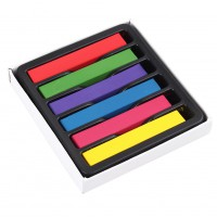 1 Set 6 Colors Hair Pins Hair Dyeing Hair Color Chalk Crayon