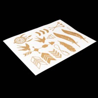 Arrow Metallic Temporary Flash Tattoo Fake Chalker Tatoo Stickers On The Body