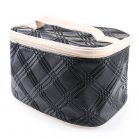 PU High Capacity Portable Cosmetic Bag With Handle Portable Storage Bag