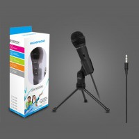 3.5mm Plug Condenser Recording Microphone PC Laptop Stereo for Chatting Singing