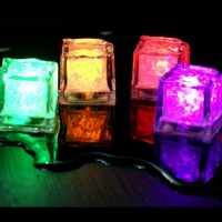 12pcs LED Ice Cubes Color Change Water Sensor Light For Romantic Wedding Party