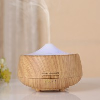 300ml Wood Grain Cool Mist Humidifier Ultrasonic Aroma Essential Oil Diffuser