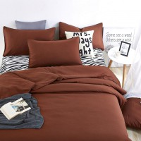 1.2M Solid color +Zebra Design Bedding / Duvet Cover Bed Sheet Pillowcase Set