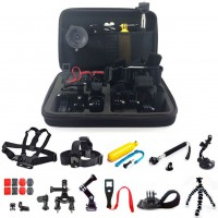 26in1 Head Chest Mount Monopod Accessories Kit For GoPro Hero 1/2/3/3+ /4 Camera