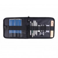 32 Piece Professional Art Drawing Set and Sketch Kit Art Supplies Drawing Bag