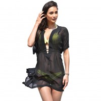 Sexy Dress Blouse Collection High-grade Chiffon V-Neck Swimsuit Cover Up Dress