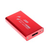 1.8 inch USB3.0 HDD Enclosure Mobile Hard Disk Box Red