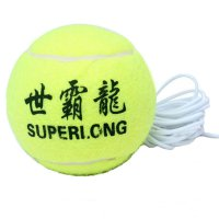 Training Tennis Ball With Elastic String Green