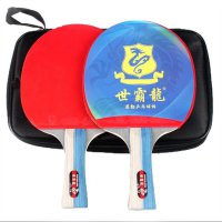 Table Tennis Racket Inverted Rubber Ping Pong Paddle Horizontal Grip Red With Black