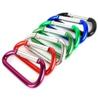 Climbing Carabiner Key Chain Clip Hook D-ring
