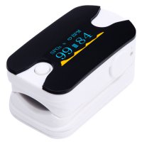 Digital Pulse Oximeter Fingertip Oxygen Monitor OLED Display Heart Rate Monitor  White