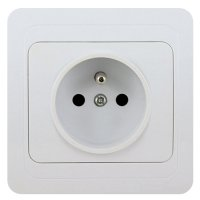 16A Wall-Mount Socket Panel 16A2P+E Single Outlet French Standard  White