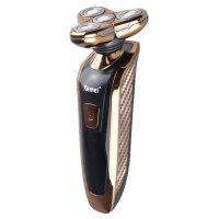 4D Electric Shaver With Nose Trimmer Head Golden