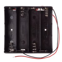 18650 Battery Slot Four 18650 in Series 11.1V Battery Not Included Black