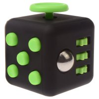 Anxiety Fidget Dice Toy Stress Relief Cube Decompression Rubik #3 Black Green