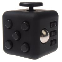 Anxiety Fidget Dice Toy Stress Relief Cube Decompression Rubik #9 Black