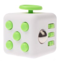 Anxiety Fidget Dice Toy Stress Relief Cube Decompression Rubik #7 Green