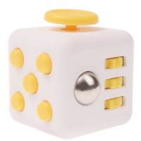 Anxiety Fidget Dice Toy Stress Relief Cube Decompression Rubik #4 Yellow
