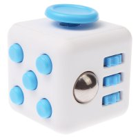 Anxiety Fidget Dice Toy Stress Relief Cube Decompression Rubik #8 Blue