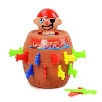 Children Tricky Toy Pop Up Pirate Barrel Lucky Game Jumping Pirate Barrel