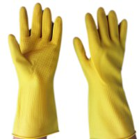 Domestic Clean Car Washing Acid and Alkali Resistant Gloves Extra Thick and Big Latex Gloves