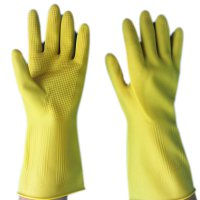 Domestic Cleaning Acid and Alkali Resistant Gloves Waterproof Latex Gloves HY23