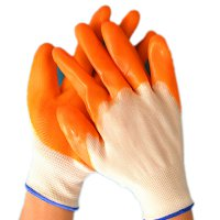 13 Pins Nylon Dipping Labor Protection Gloves PVC Gloves