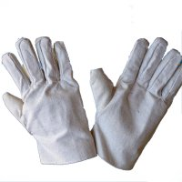 Canvas Dual Layer Gloves  White Gloves