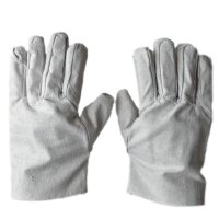 Canvas Dual Layer Gloves Thicken Wear Resistant White Gloves