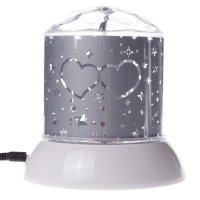 Rotating LED Projector Night Light White Star
