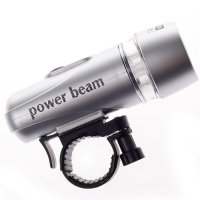 5 LED Bicycle Flashlight Torch Silver