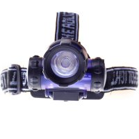 3W High Power LED Fishing Lights Outdoors Emergency Lights Black with Blue