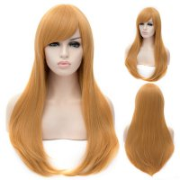 Cosplay Wig Golden Euramerican Style Long Curly Hair Wig