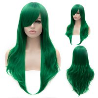 Cosplay Wig Green Euramerican Style Long Curly Hair Wig