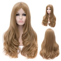 Cosplay Wig Flaxen Euramerican Style Long Curly Hair Wig