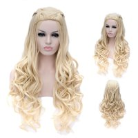 Cosplay Wig Pale Gold Long Curly Wig