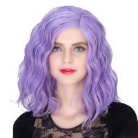 COS Wig Halloween Theme Wig A598 SW1902 3815 Short Curly Hair Purple
