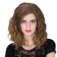 COS Wig Halloween Theme Wig A284 SW1888 Short Curly Hair Brown Fading
