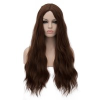 Cosplay COS Wig Long Curly Hair Brown 70cm