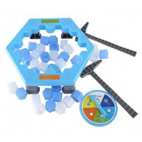 Puzzle Table Games Balance Ice Cubes Save Penguin Icebreaker Destop Party Games