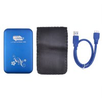 2.5'' USB3.0 HDD Enclosure Mobile Hard Disk caseBox Blue