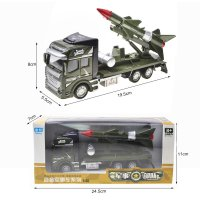 RNC Toy Military Truck Pull Back Alloy Truck Toy 1:48 Rocket Truck