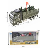 RNC Toy Military Truck Pull Back Alloy Truck Toy 1:48 Transport Truck Carrier Vehicle