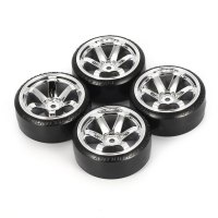 4Pcs RC Drift Tires Set for 1/10 Traxxas HSP Tamiya On-road Drifting Car Parts