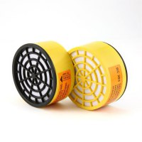 1 Pair Chemical Active Carbon Box Painting Gas Filter Respirator for Gas Mask