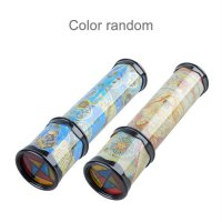 Magic Plastic Kaleidoscope Kids Children Educational Toy Fancy Colored World